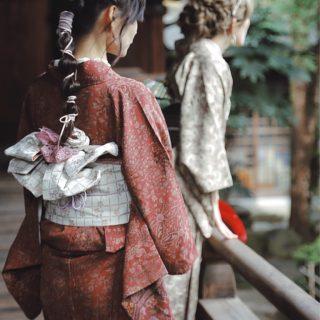 古都奈良をアンティーク着物でお散歩👘🍁🍠
