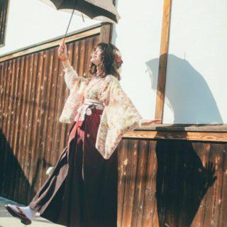 アンティーク着物+袴でお出かけ👘🍶🌸